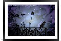 Fantasy Dark Night Scene Illustration, Framed Mounted Print