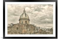 Rome Downtown Buildings, Framed Mounted Print