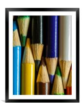Coloured Pencils , Framed Mounted Print