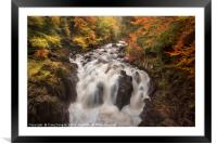 The Falls of Braan, Framed Mounted Print