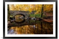 Autumn Bridge Scotland, Framed Mounted Print
