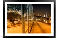 BROOKLYN Jane's Carousel & Manhattan Skyline , Framed Mounted Print
