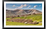 The How Ghyll fells, Framed Mounted Print