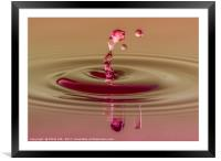 Water drops, Framed Mounted Print