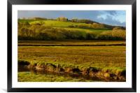 Across the river Devoran, Framed Mounted Print