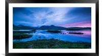 Midsummer at Lochan na h-achlaise, Framed Mounted Print