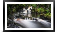 Linn Jaw Waterfall, Framed Mounted Print