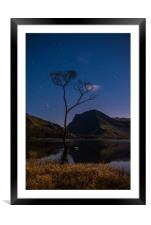 Buttermere by Starlight, Framed Mounted Print