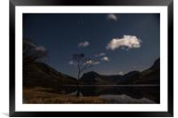 Buttermere by night, Framed Mounted Print