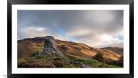 Bruces Stone, Glen Trool, Scotland, Framed Mounted Print