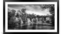 Kravice Waterfalls, Framed Mounted Print
