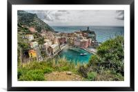 Looking Down on Vernazza, Framed Mounted Print