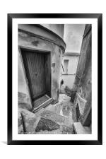 Streets of Riomaggiore II, Framed Mounted Print