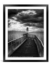 Newport Lighthouse                                , Framed Mounted Print