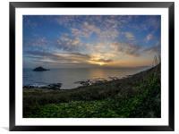 Last Rays - Wembury, Devon, Framed Mounted Print
