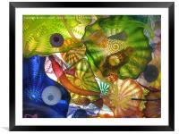 Art Glass - Underwater 10, Framed Mounted Print