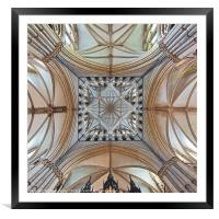 The Transept, Lincoln Cathedral, facing east., Framed Mounted Print