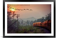 Traveling, Framed Mounted Print