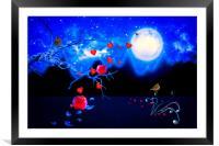 Autumn love - Moonlight, Framed Mounted Print