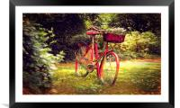forgotten bicycle , Framed Mounted Print
