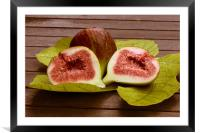 Sweet fresh fig , Framed Mounted Print