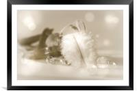 Feather light , Framed Mounted Print