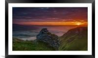 Winnats Pass Sunrise., Framed Mounted Print