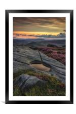 The Watering Hole, Framed Mounted Print