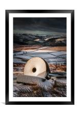 Stanage Edge Millstones, Framed Mounted Print