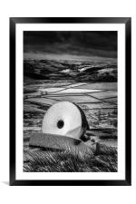 Stanage Edge Millstones #4, Framed Mounted Print
