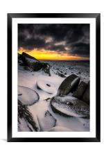 Millstone Sunrise, Framed Mounted Print