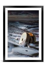 Stanage Millstones, Framed Mounted Print