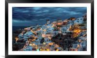 Oia Santorini, Framed Mounted Print