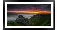 Winnat's Sunrise, Framed Mounted Print