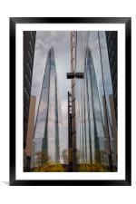 Shard Reflections, Framed Mounted Print