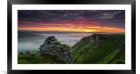 Winnat's Sunrise #2, Framed Mounted Print