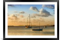 Caribbean Evening Anchorage, Framed Mounted Print