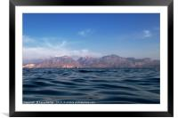 Mermaid's View of Mirabello Bay, Framed Mounted Print