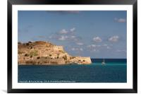 Crete: At Anchor off Spinalonga, Framed Mounted Print