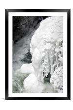 Frozen Gorge, Framed Mounted Print