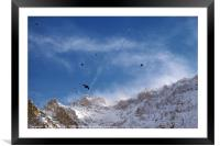 Soaring Above the Alps, Framed Mounted Print