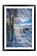 Winter footpath, Framed Mounted Print