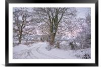 Winter lane, Framed Mounted Print