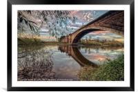 Grosvenor Bridge Chester, Framed Mounted Print