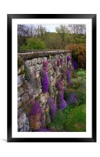 Wall of Flowers, Framed Mounted Print