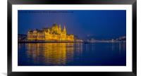 Blue Danube., Framed Mounted Print