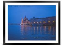 The parliament in Budapest., Framed Mounted Print