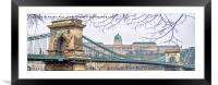 Chain Bridge., Framed Mounted Print