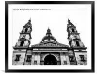 St. Stephen's Basilica., Framed Mounted Print