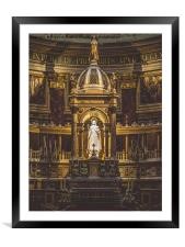 The Alter. , Framed Mounted Print